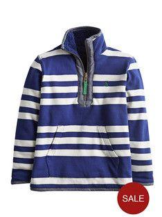 Joules Sterwin Boys Reversible Stripe Fleece