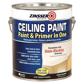 Shop Zinsser Ceiling Gallon Size Container Interior Flat Ceiling Bright White Water Base Paint And Prime Painted Ceiling Best Ceiling Paint White Ceiling Paint