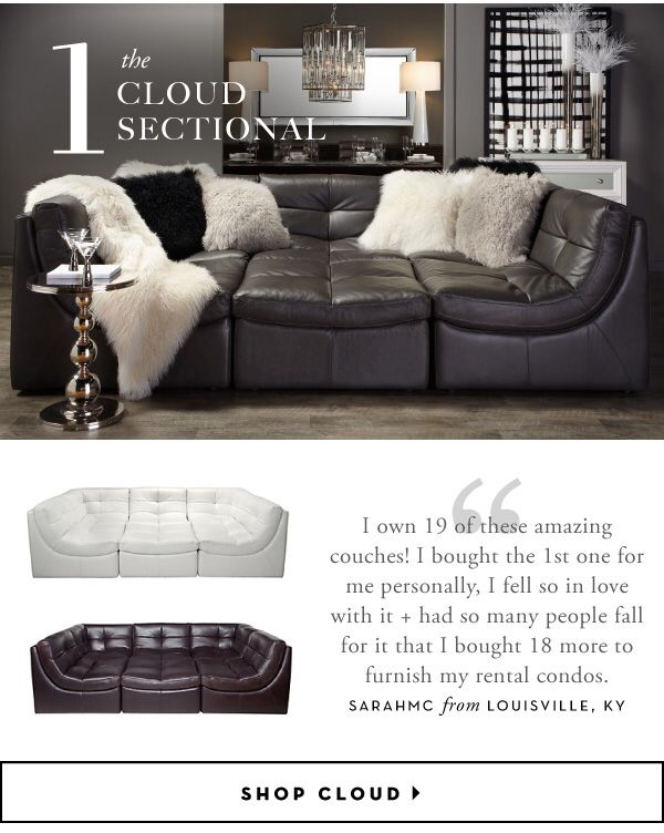 ZGallerie Cloud Sectional in 2019 | New living room, Couch ...