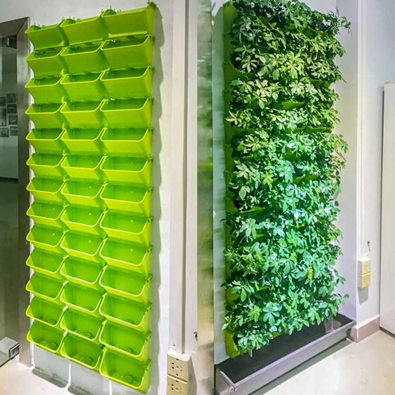 Modular Type Vertical Hanging Wall Pot Shophomy In 2020 Vertical Garden Wall Vertical Garden Indoor Hanging Flower Pots