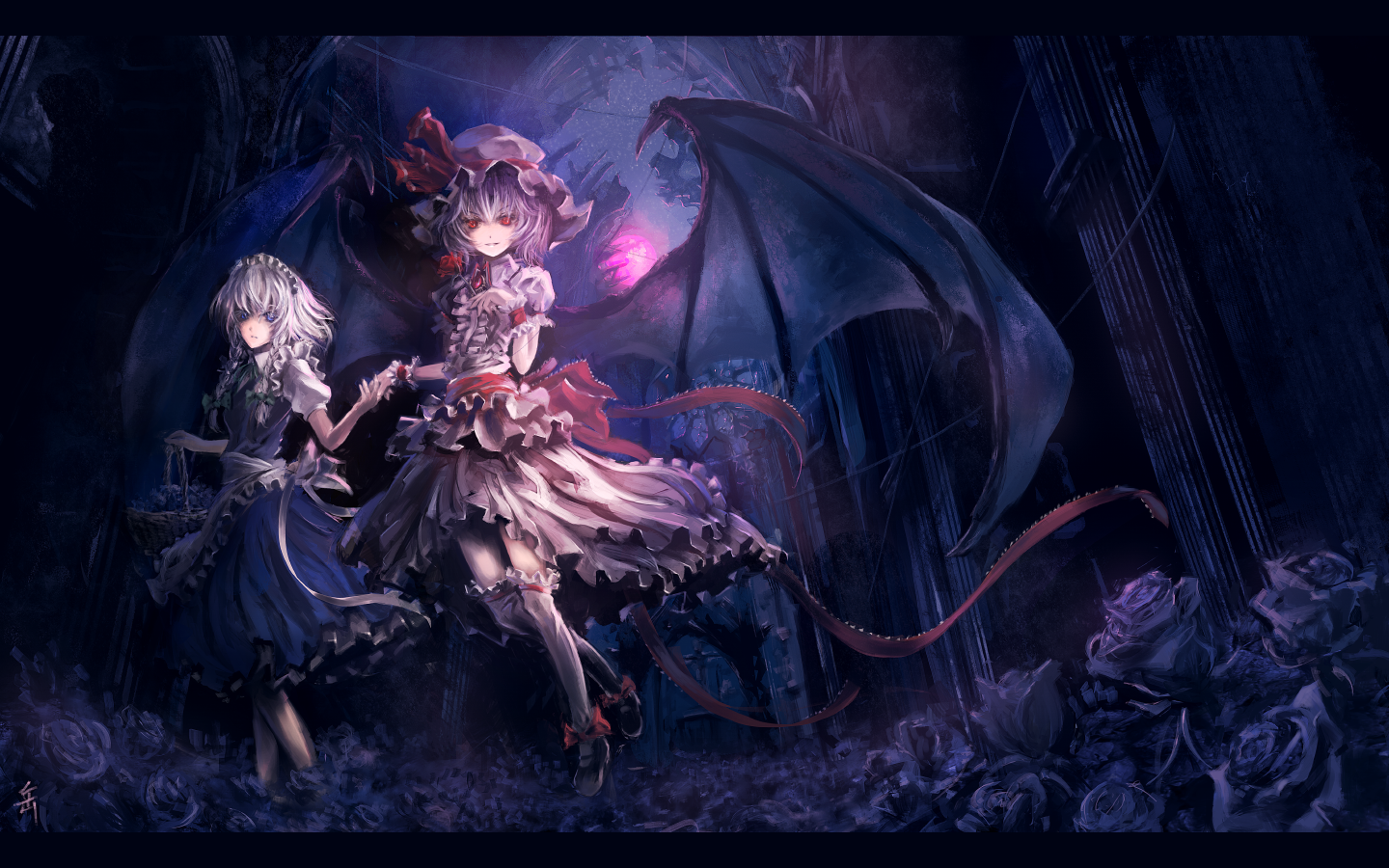 Being a vampire, Remilia is something of a night owl. She