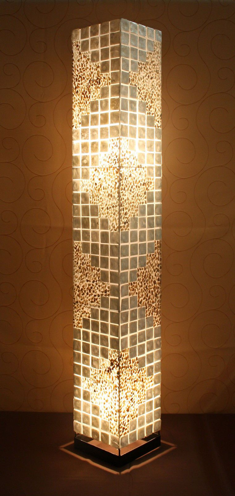 Asiatische Stehleuchte Perlmutt Asia Lampen Stehlampen Designer