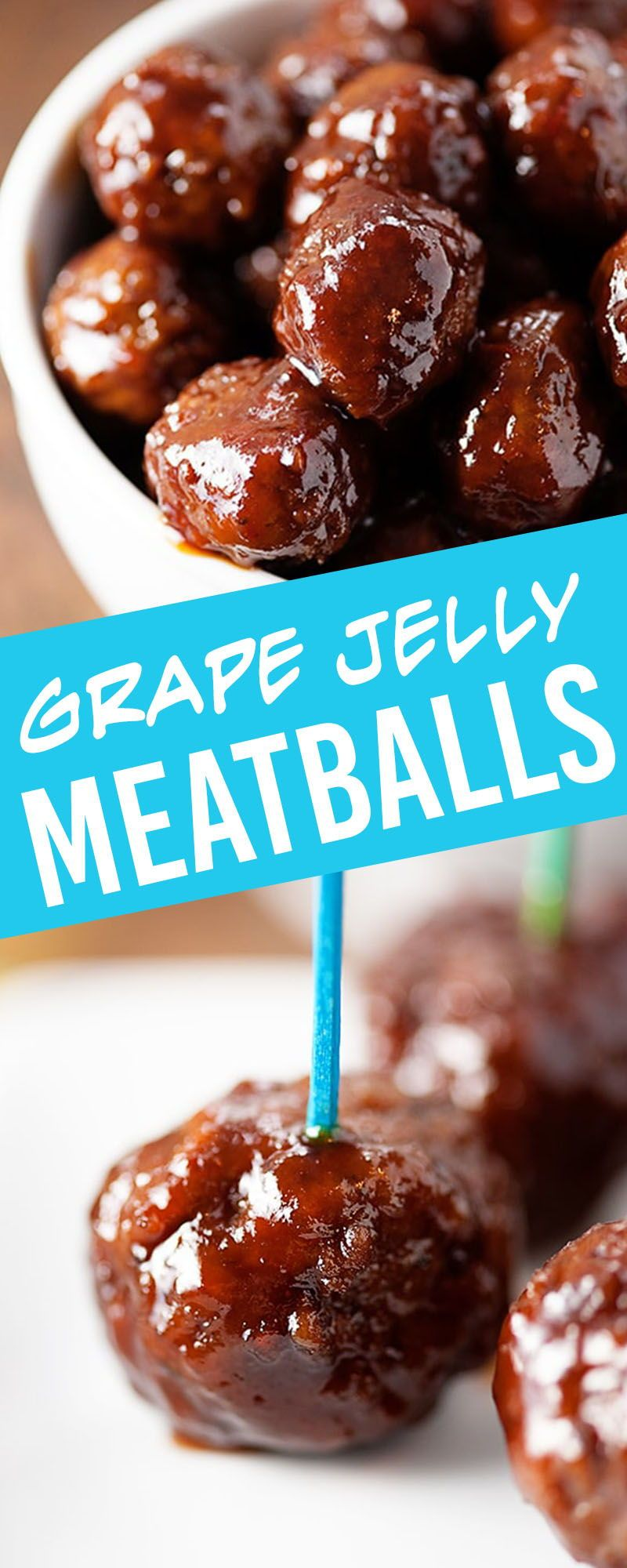 Grape Jelly Meatballs - the easiest appetizer you'll ever make!