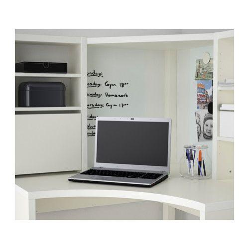 Micke poste de travail d 39 angle blanc angles ikea et for Ikea scrivania micke angolare
