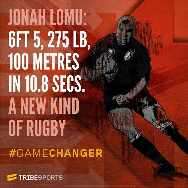 Gamechanger Jonah Lomu Rugby Sport Fitness Training Rugby Time Rugby Union Teams Rugby