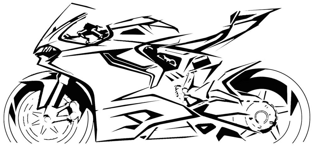 Design Sketches That The Brought Ducati 1199 To Life Mo To Canh Tay