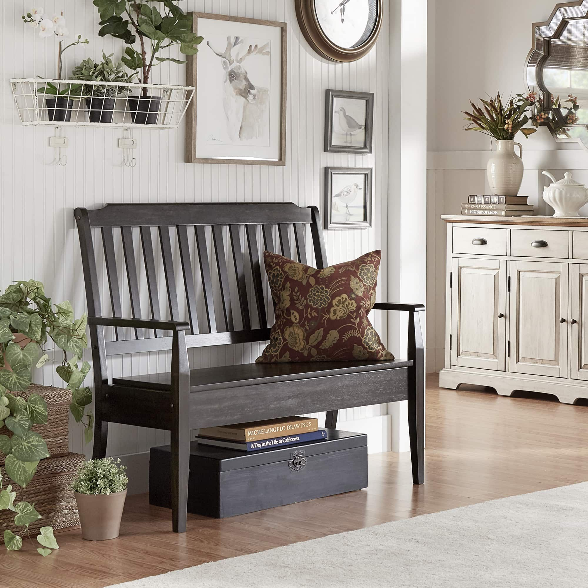 Eleanor Slat Back Wood Storage Bench by iNSPIRE Q Classic - Free Shipping  Today - Overstock