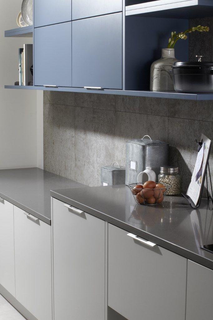 Best Burbidge S Otto Matt Kitchen In Light Grey And Old Navy 400 x 300