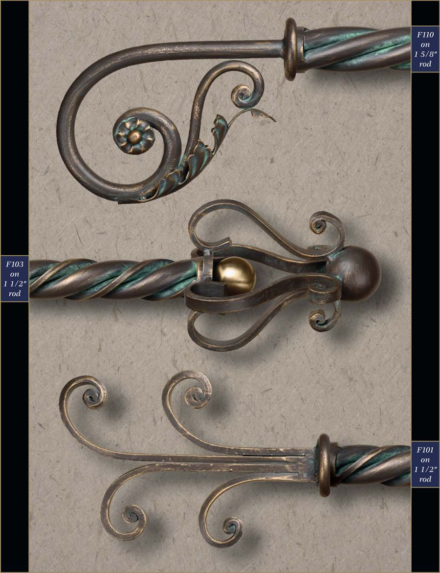 1 1 2 Wholesale Wrought Iron Curtain Rods Finials Gaby S Shoppe Iron Curtain Rods Curtain Rods Metal Curtain Rod