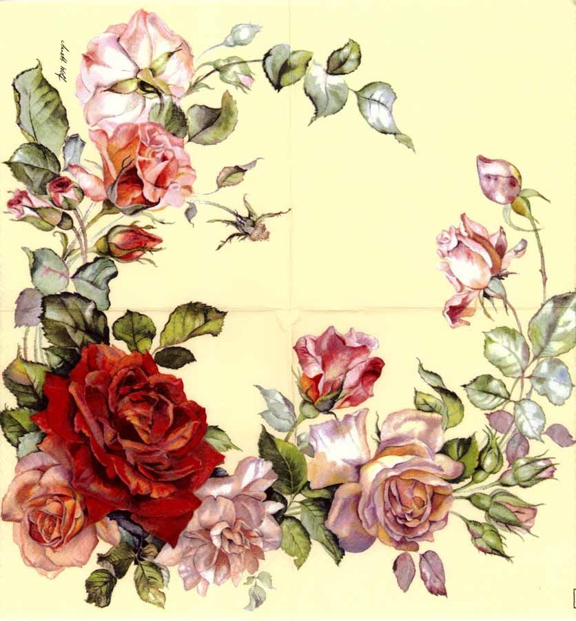 Image result for decoupage roses #papernapkins