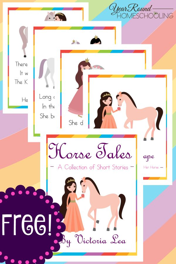 horse, short stories, reading, homeschool, homeschooling, printable