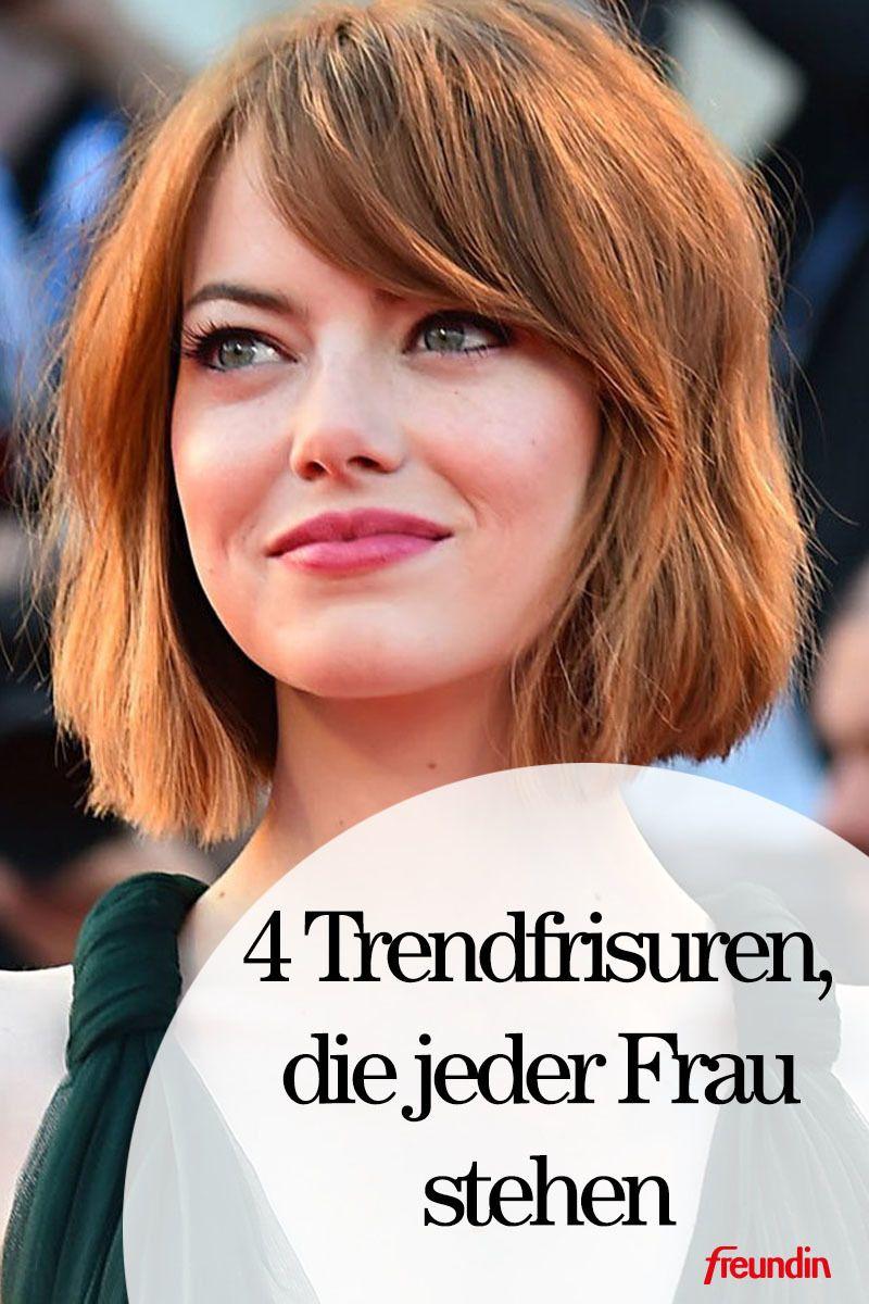 4 Trendfrisuren Die Jeder Frau Stehen Trendfrisuren Frisuren Ovales Gesicht Haarfrisuren Mittellang