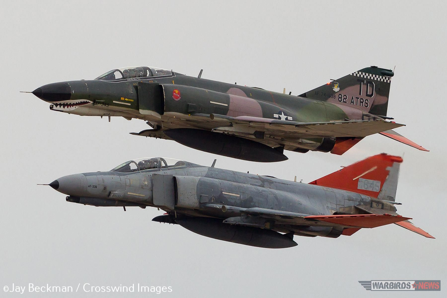Pharewell to the Phantom A QF4 Phantom flies over