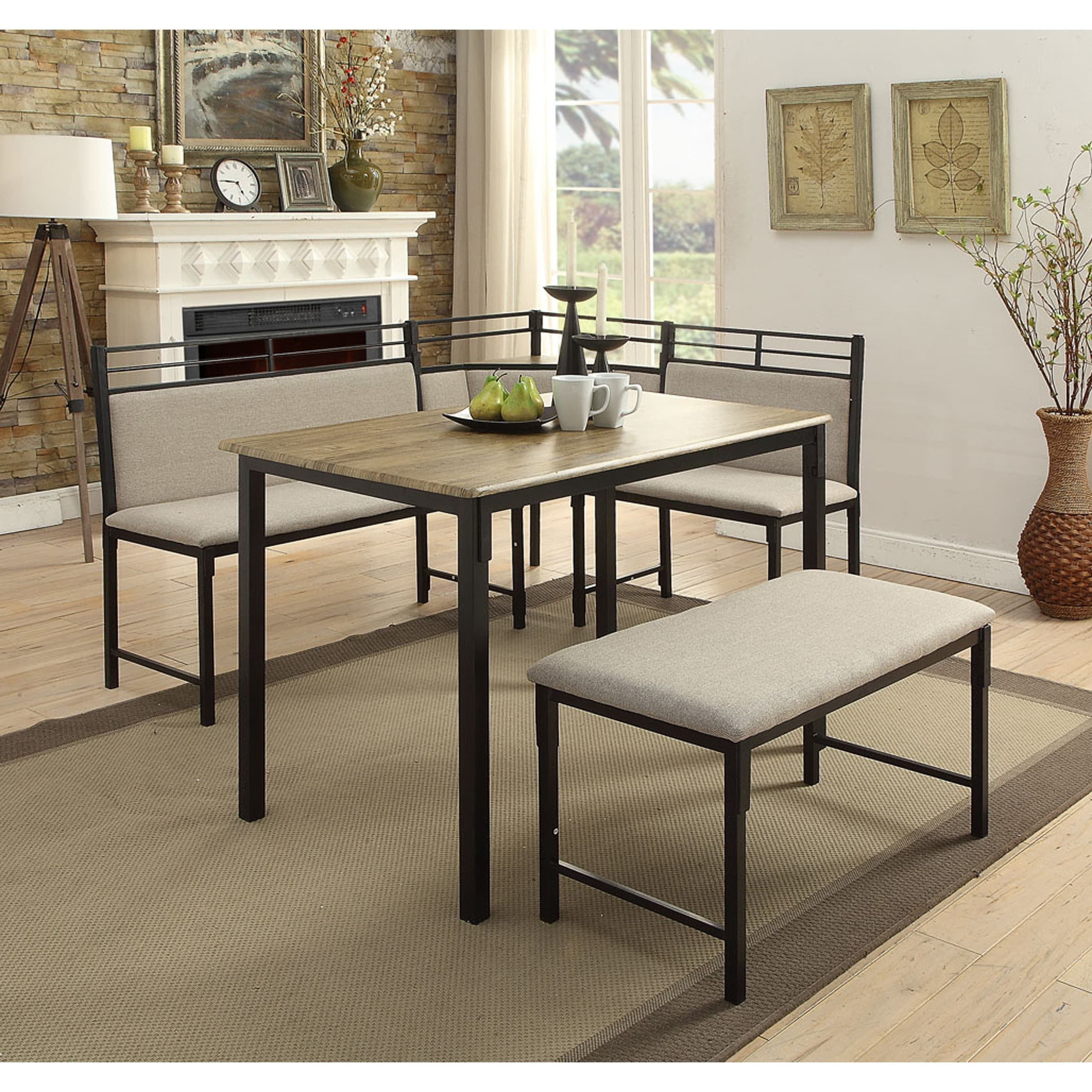 Boltzero Tool-less Corner Nook Dining Set (Table Corner Seat Bench ...