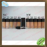 3 PC lotes Venta caliente Fundación Mineral líquido 30ML Maquillaje 10 Colores Studio Fix Fluid bálsamo Fundación SPF15 Liquid