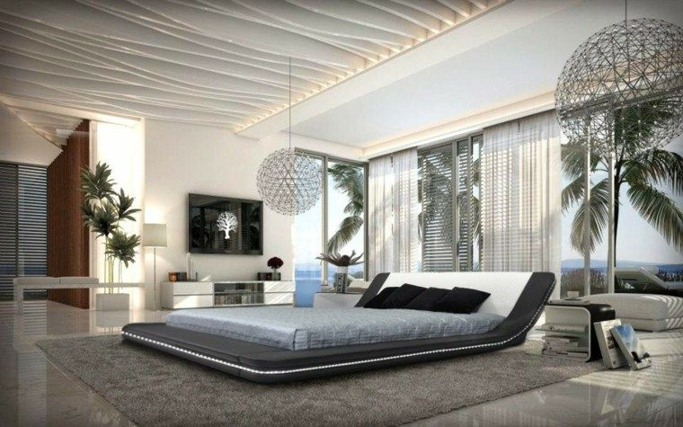 Chambre à coucher moderne : 50 idées design | Ceiling, Bedrooms and Room