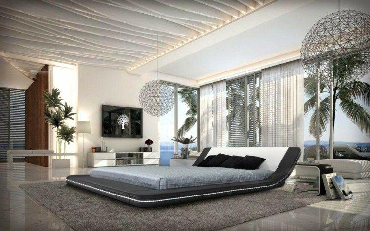 Chambre coucher moderne 50 id es design plafond for Voir les chambres a coucher