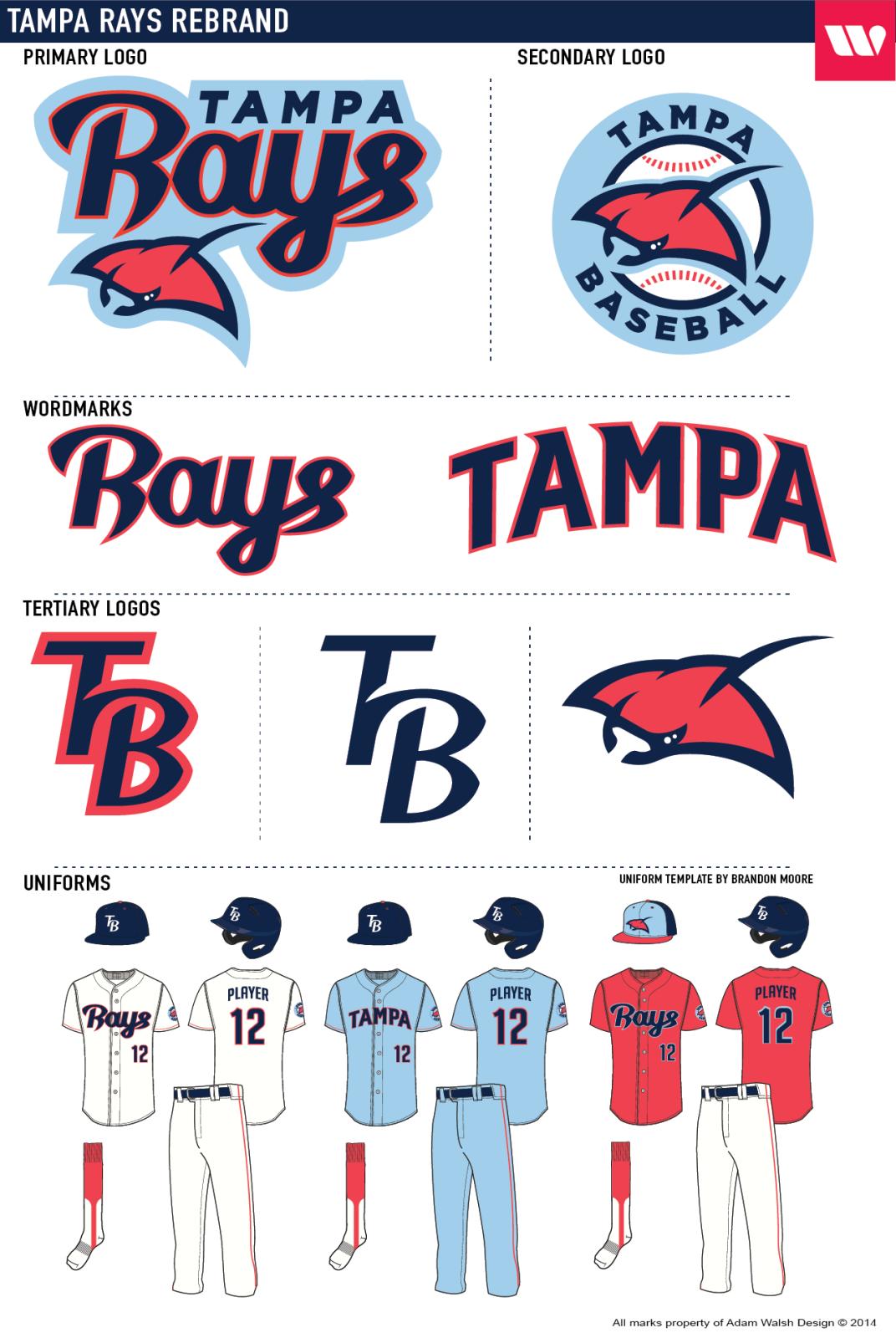 Tampa Rays Rebrand Tampa Rebranding Tampa Bay Rays