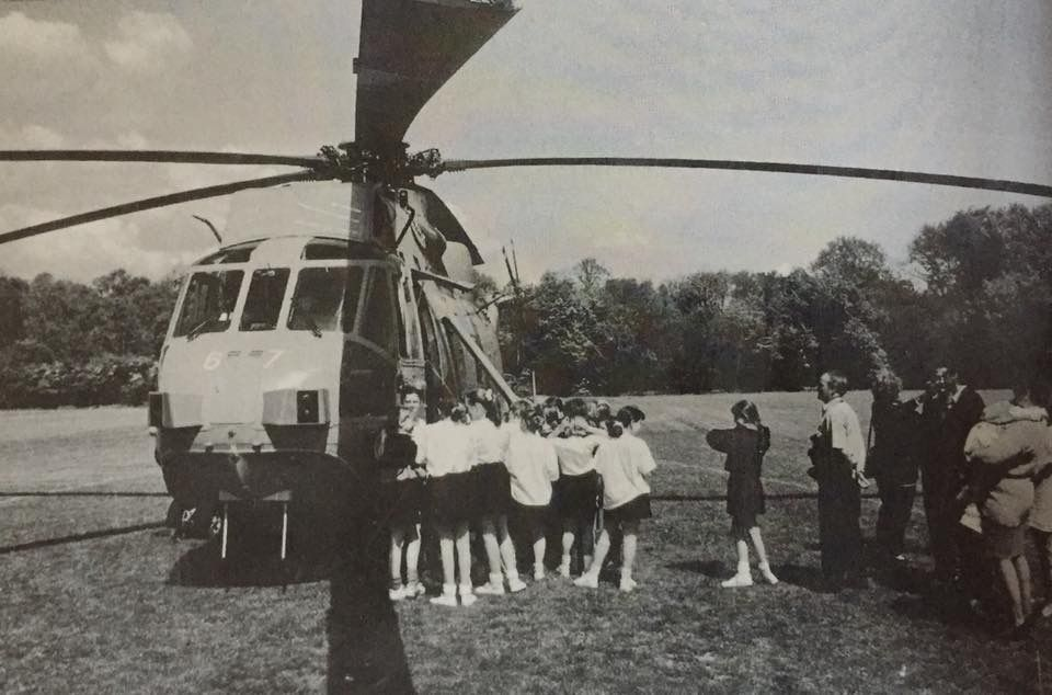 A Helicopter in the grounds of Charles Darwin at Biggin ... on snake hill, gun hill, sand hill, tower hill, house hill,