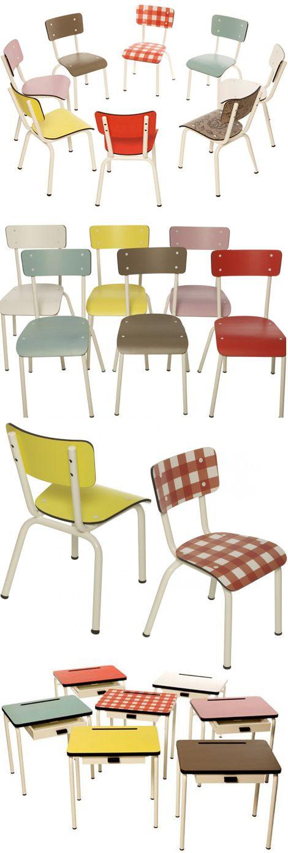 retro stoeltjes van les gambettes gambettes chaises et meubles. Black Bedroom Furniture Sets. Home Design Ideas