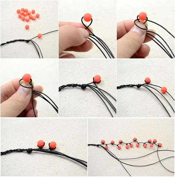 Easy Tutorial On Making A Multi Strand String And Bead Bracelet Cord