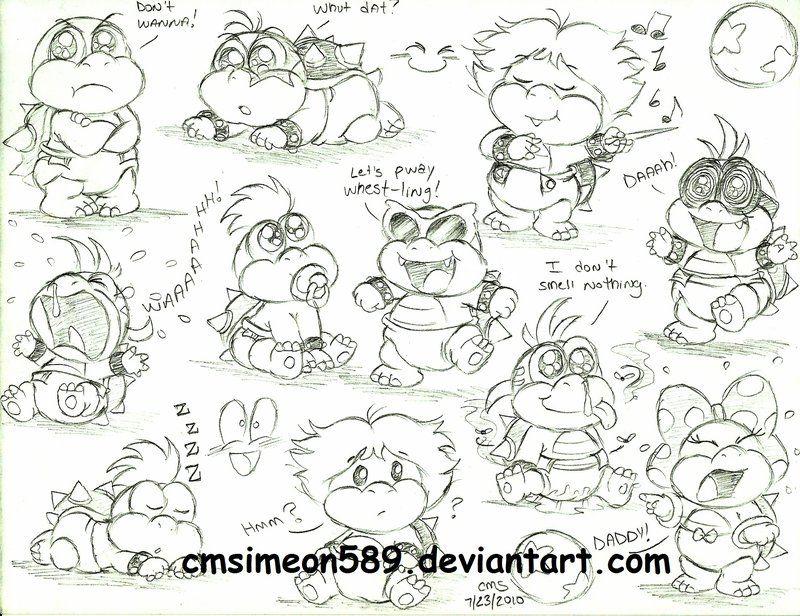 Baby Koopaling Doodles By Cmdixon589 On Deviantart Doodles Mario Mario Bros