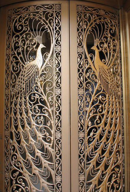 Brass Front Door Knockers Art Nouveau - Bijouterie 'paon' - C.d Peacock - State