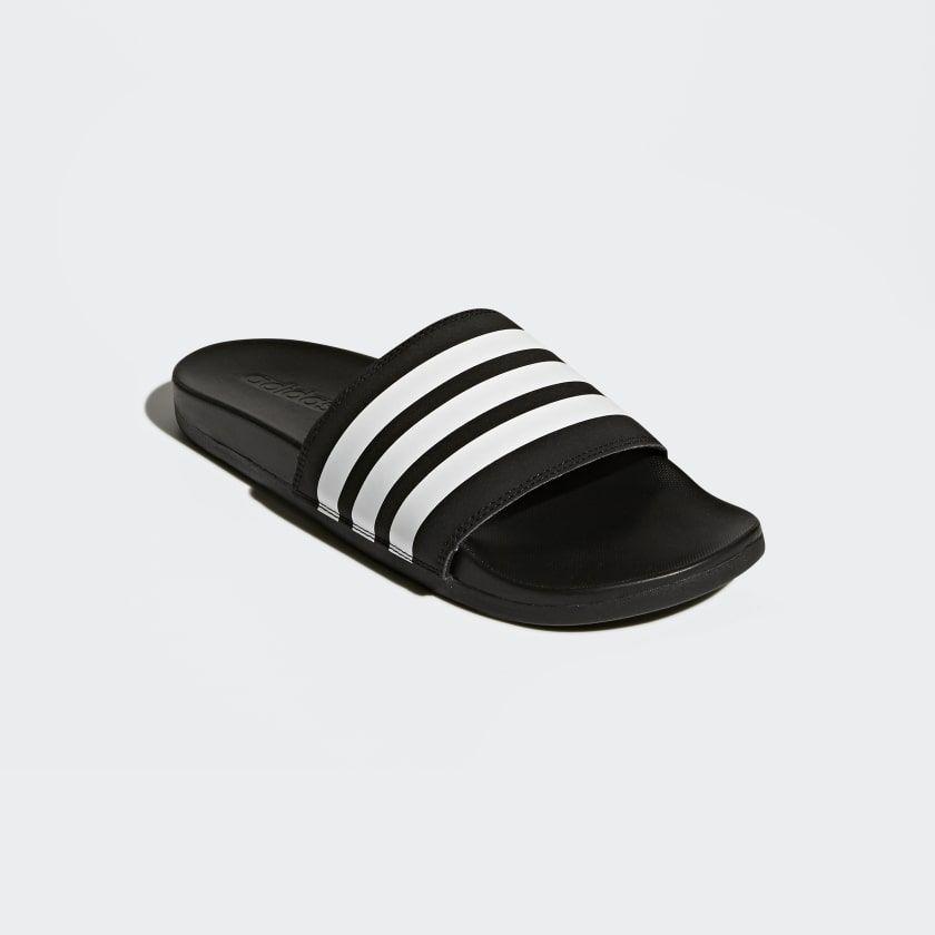Adilette Cloudfoam Plus Stripes Slides Black AP9971 ...
