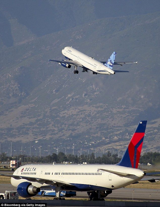 Accident: The Delta Boeing 757 was bound for Los Angeles with 171 customers on board when it clipped the Compass Airlines jet (file photo)