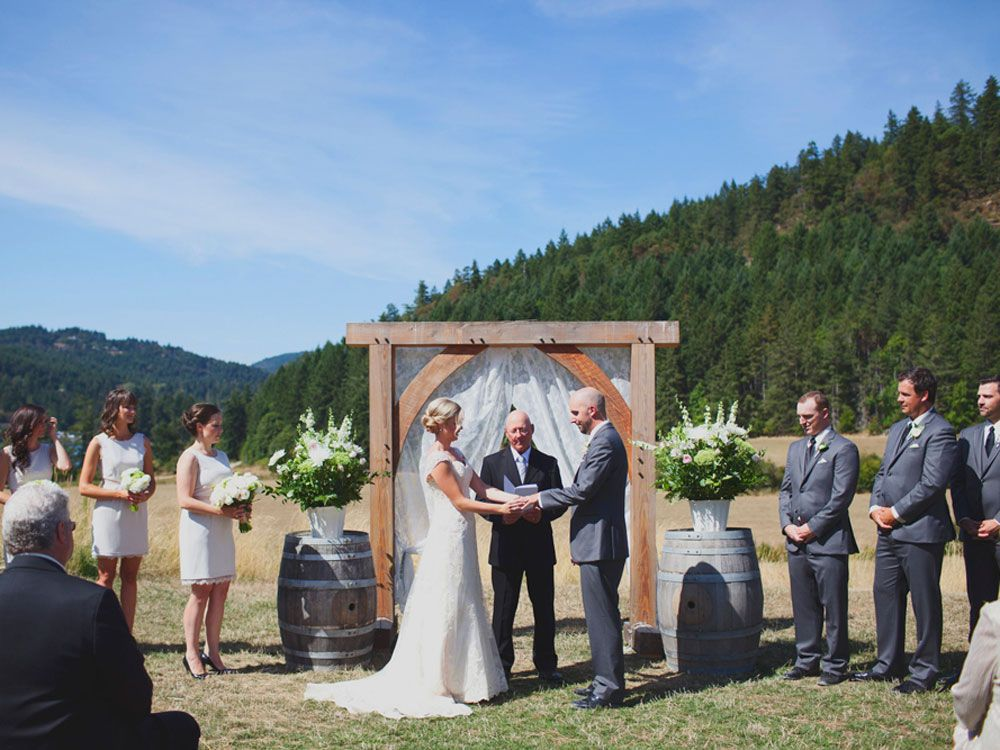 A Lovely Barn Wedding On Vancouver Island