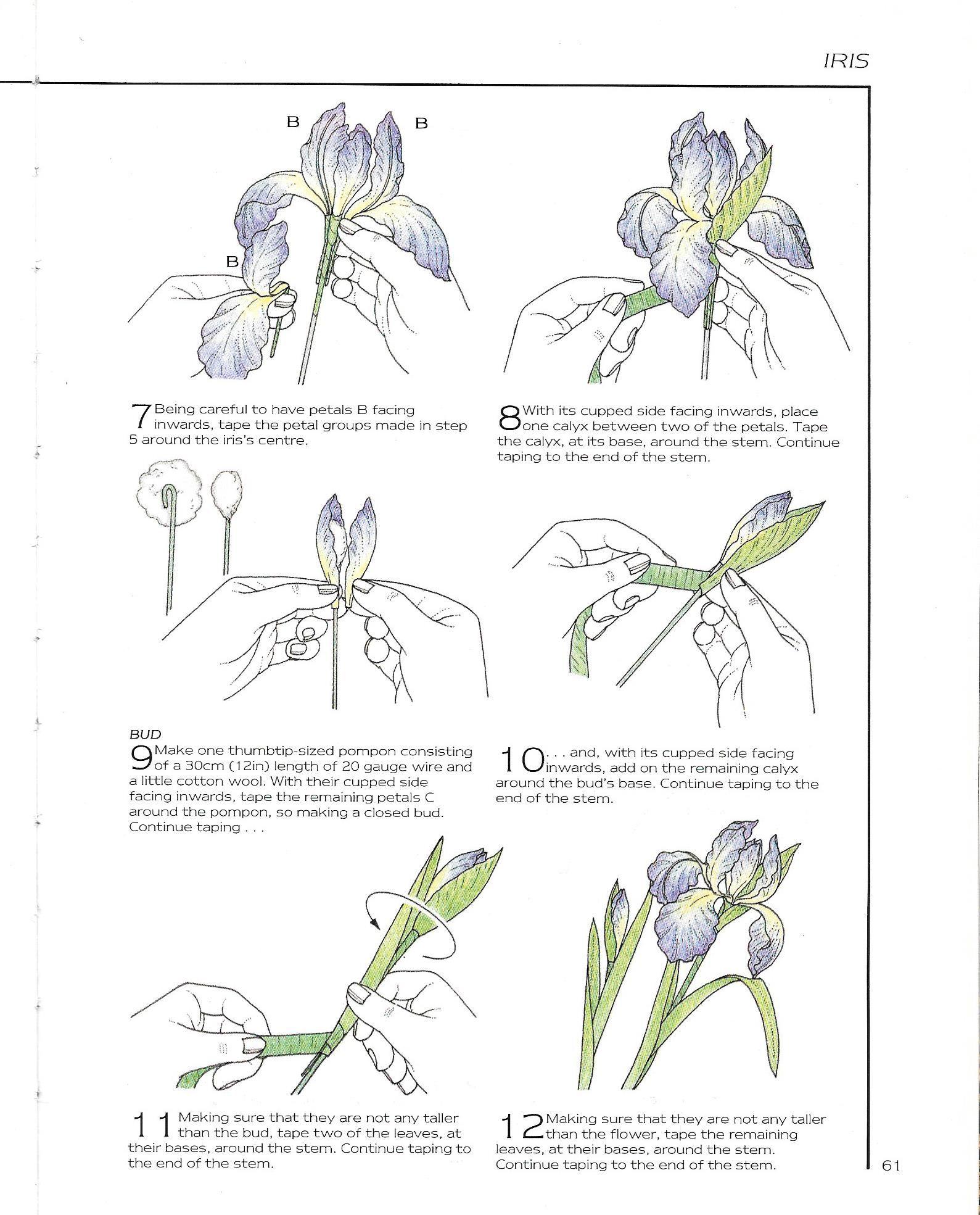 Iris 04 Paper Flowers Handmade Flowers Paper Flower Patterns