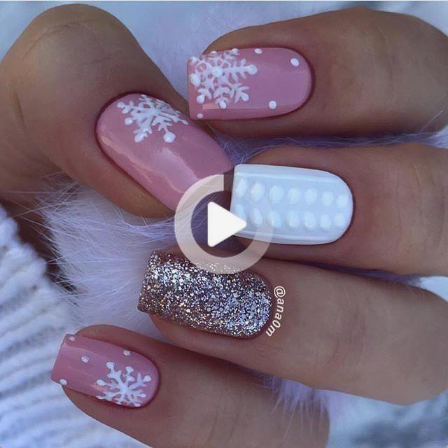 Gedämpfte Nail Design Winter #holidaynailswinter 52 Winter Nagel Farben und Des…