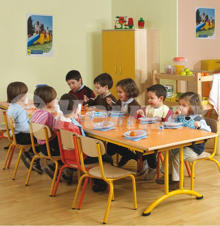 Mesa plegable para comedores escolares  Mesas escolares