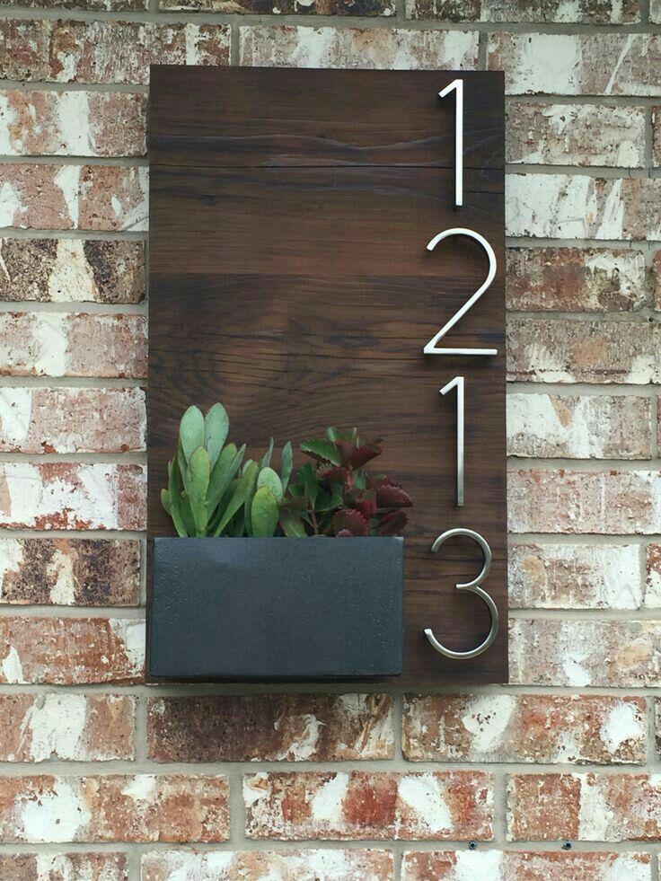 House number signs diy numbers mailbox home also pin by sidney mcneely on ideas decor rh pinterest