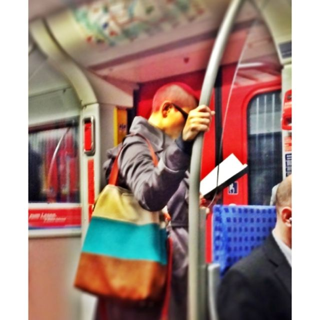 Public reading in the metro