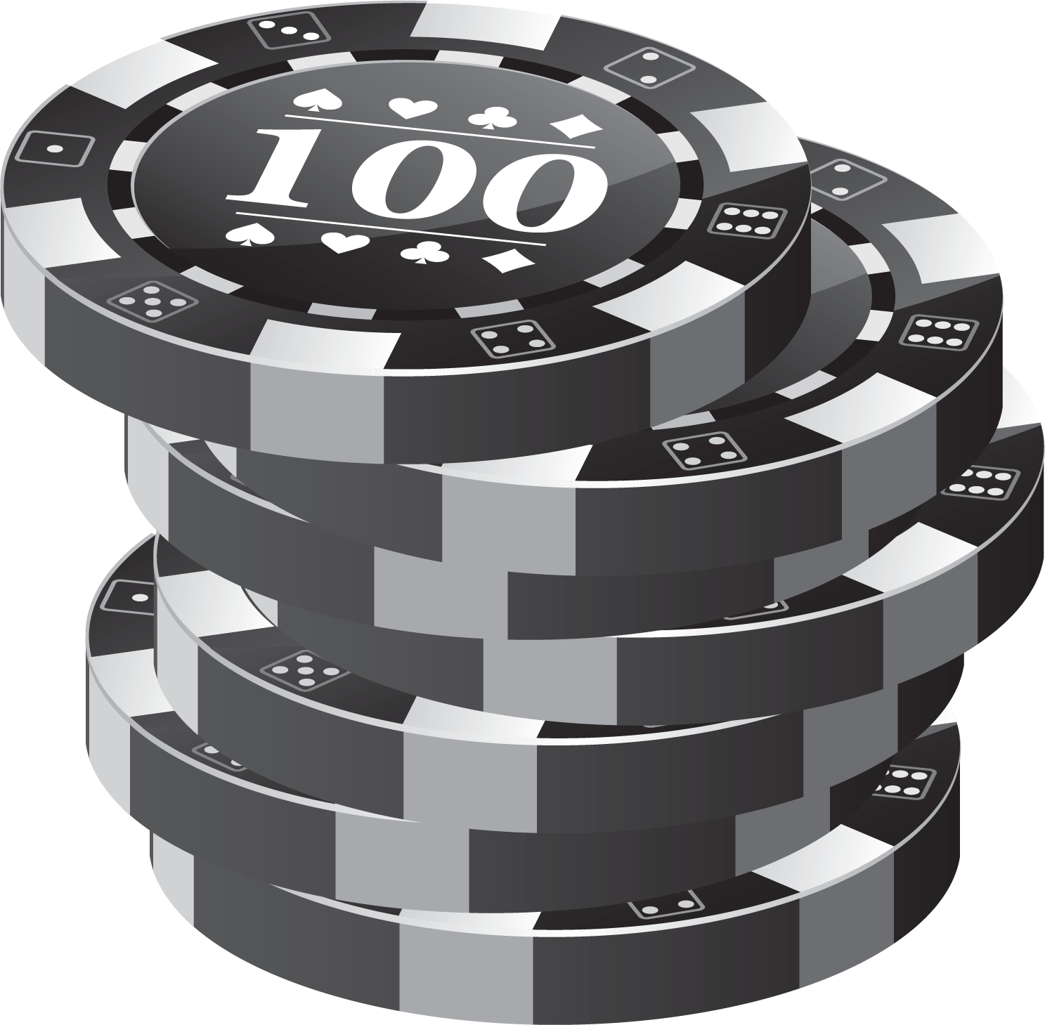 34++ Poker chips clipart black and white info