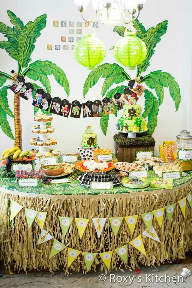 Awesome Jungle Theme Birthday Party Decoration Ideas Part - 7: Safari / Jungle Themed First Birthday Party Part III U2013 DIY Decoration Ideas  + Free Printables Included!