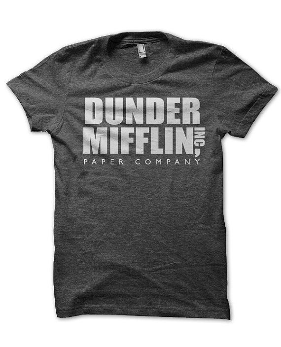 Dunder Mifflin The Office T Shirt By Sundogshirts On Etsy 12 95 I Must Have Cool Shirts Shirts The Office Merch