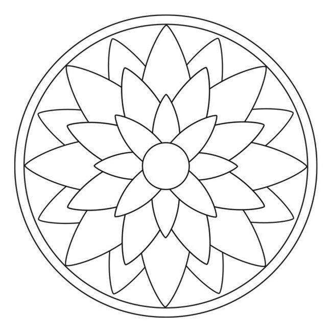 blossom mandala 2  mandala art lesson simple mandala
