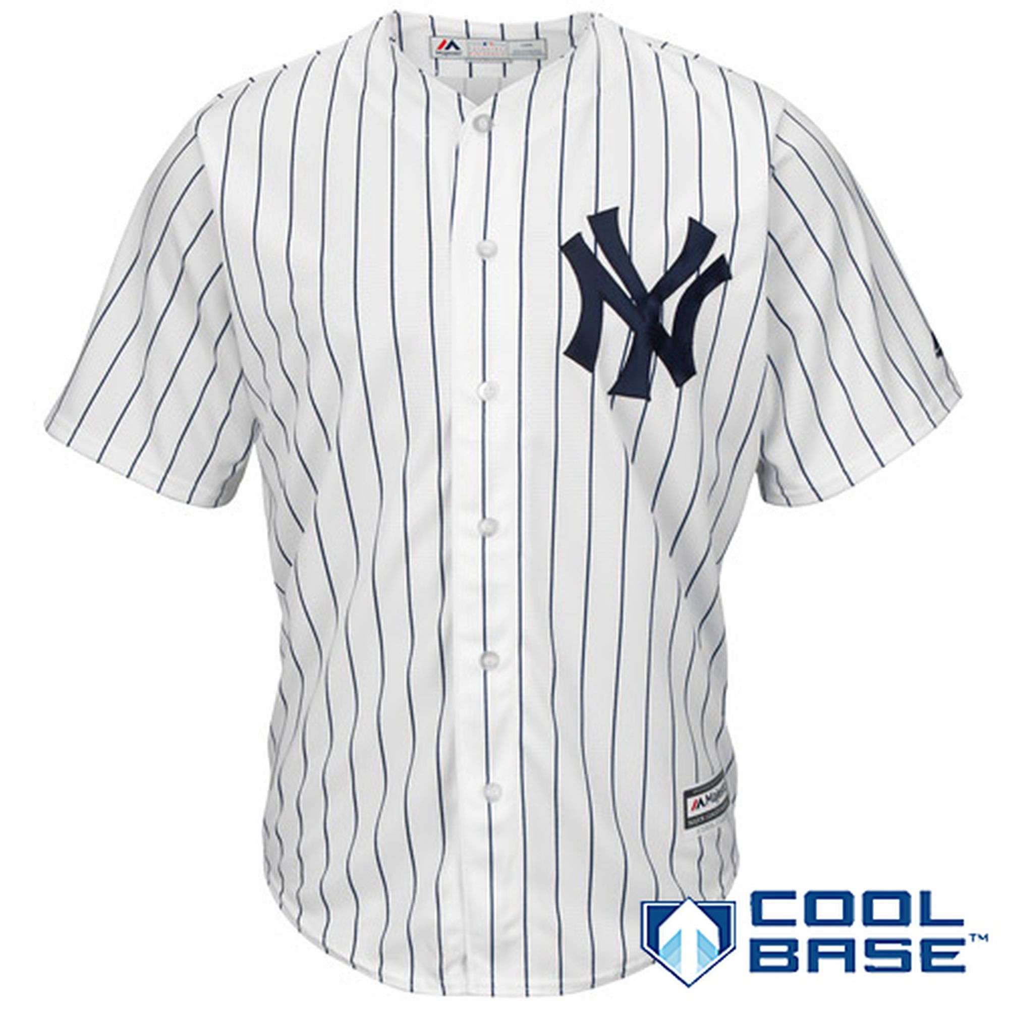 Majestic New York Yankees White Official Cool Base Jersey  521816712d9