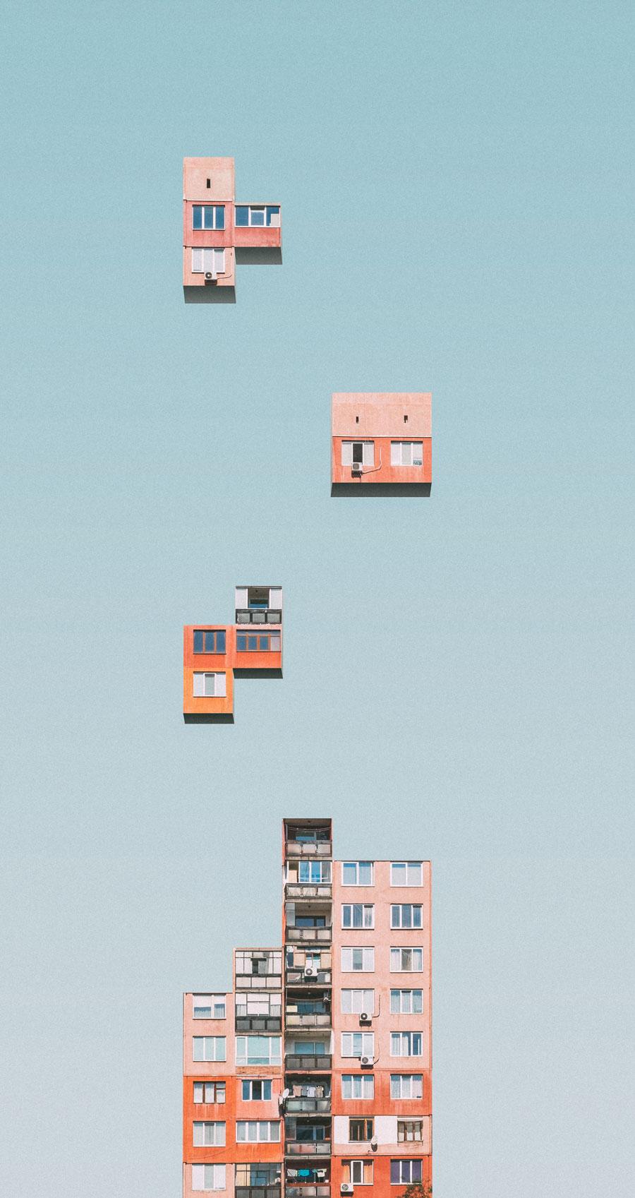 Urban Tetris by Mariyan Atanasov transforms high-rise blocks