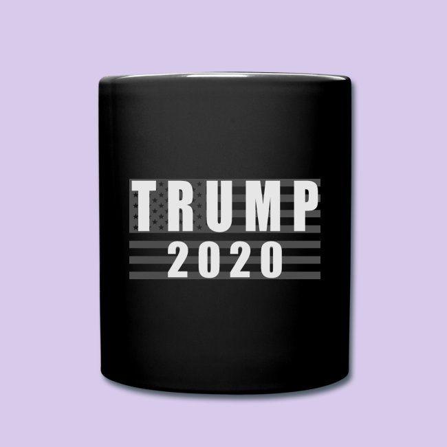 Trump 2020 Flag BW Full Color Mug Mugs, American flag