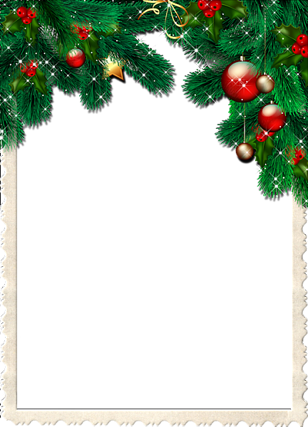 Christmas Transparent Frame With Pine Branches Christmas Stationary Christmas Frames Free Christmas Borders
