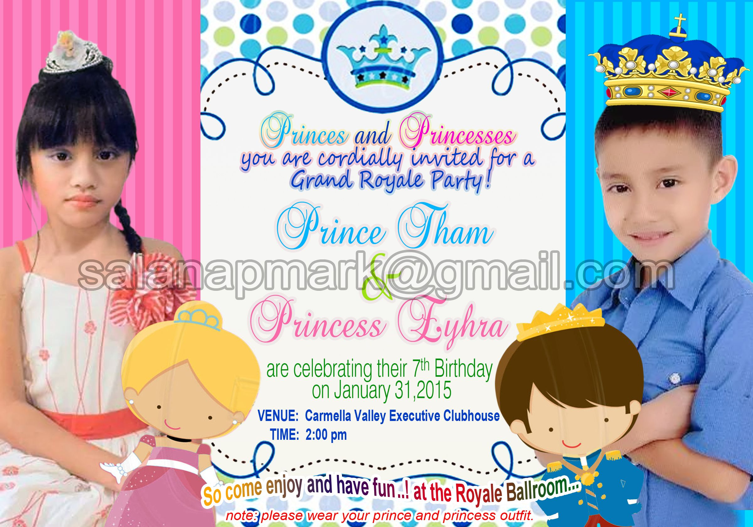 3r Size Birthday Invitation Card For Inquiries Please Email