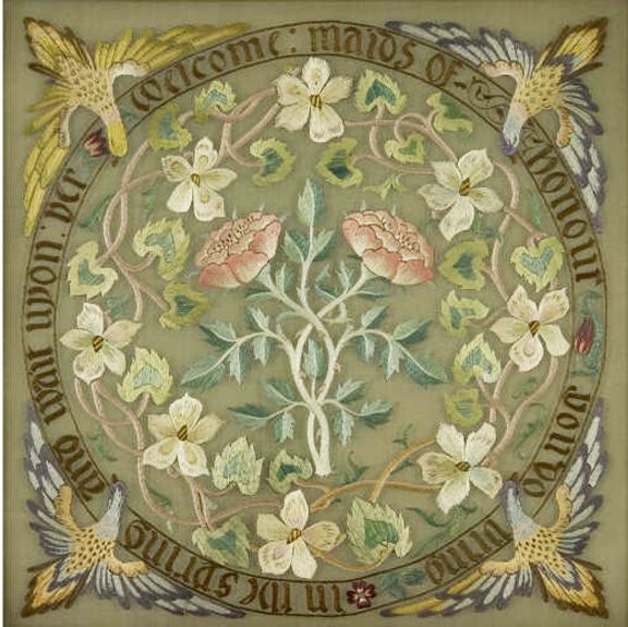 May Morris Embroidery Design Welcome Maids Of Honour You Do Bring