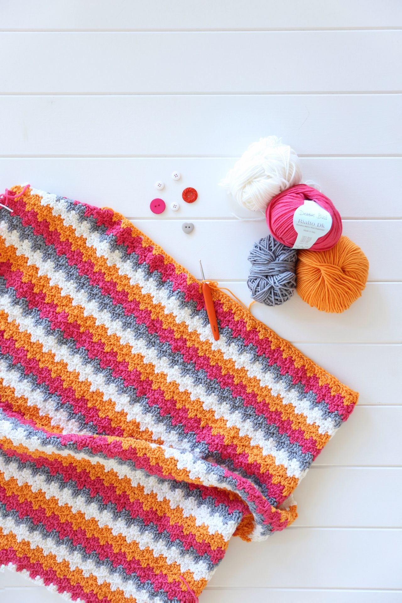 Granny Stripe Blanket Pattern Cool Decorating