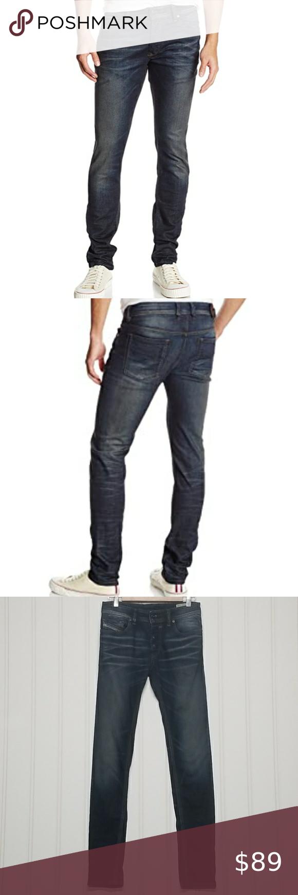 Diesel Sleenker 0827K men's denim jeans EUC Diesel