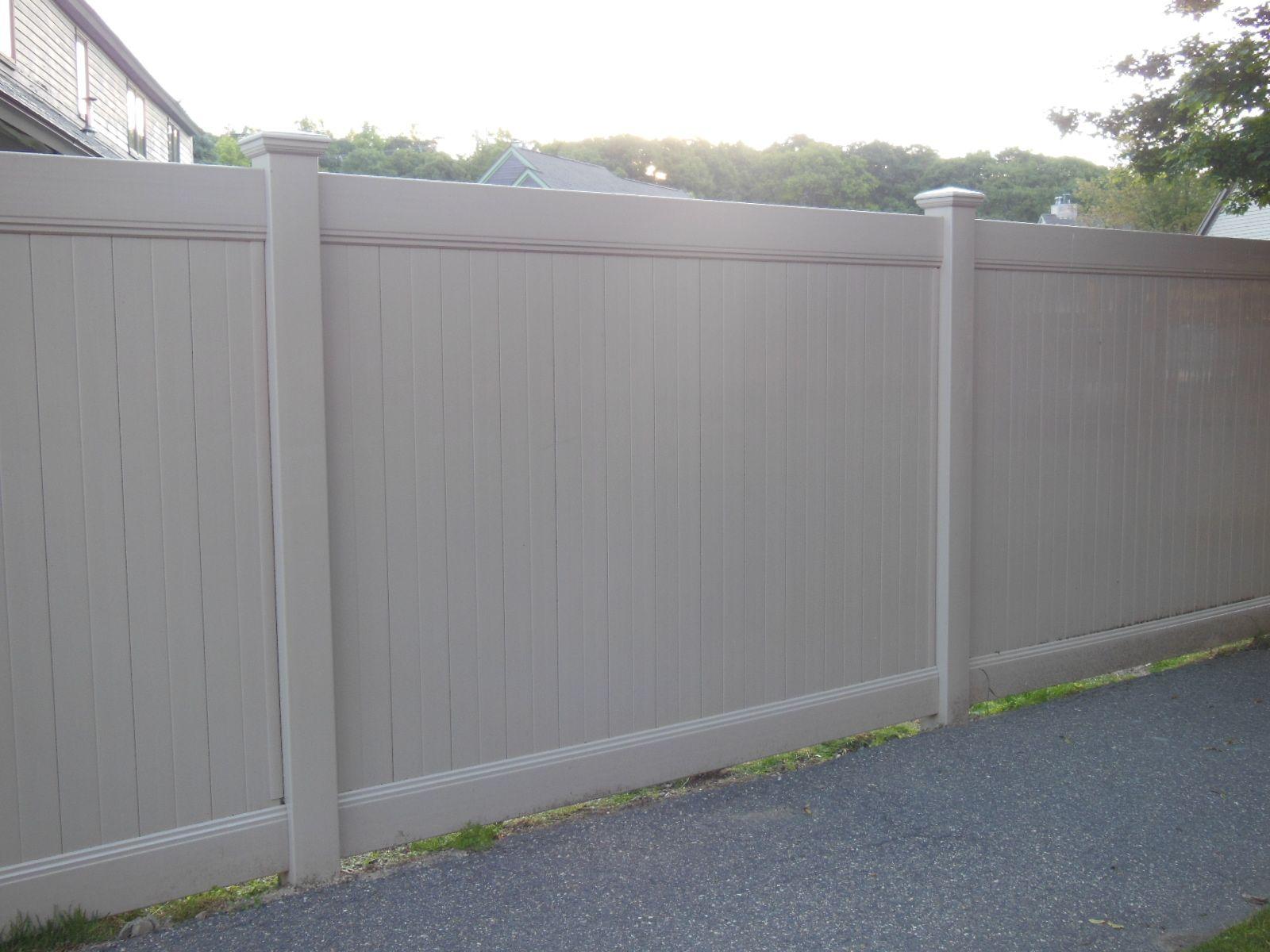 6 High Beige Vinyl Privacy Fence Vinyl Fences In 2019