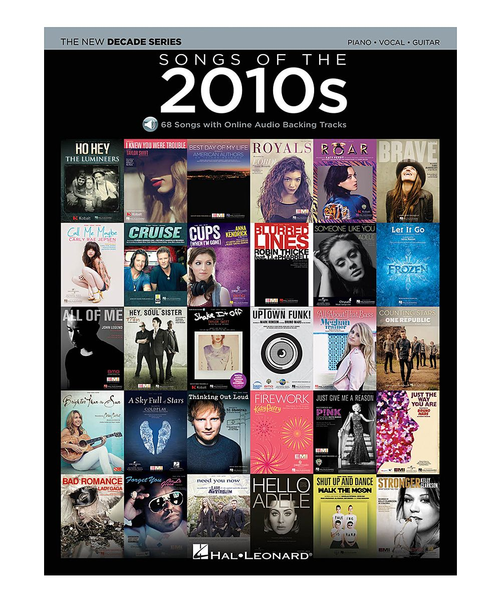 Songs of the 2010s Piano, Vocal & Guitar Sheet Music