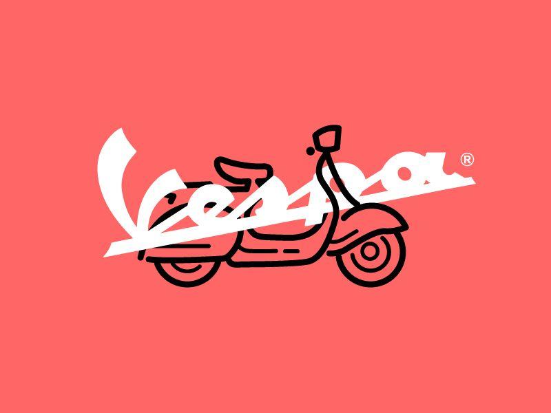 vespa logo concept vespa scooters and vespa scooters rh pinterest com